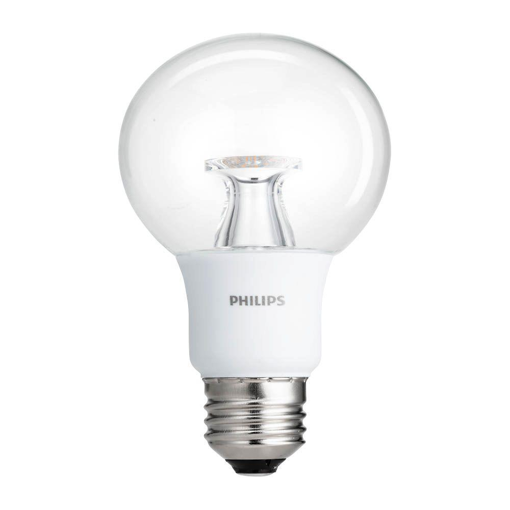 Philips 40W Equivalent Soft White Clear G25 Dimmable LED Energy Star with Warm Glow Light Effect ...