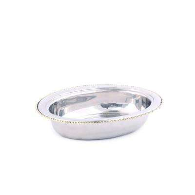 6 qt. Oval Stainless Steel Food Pan