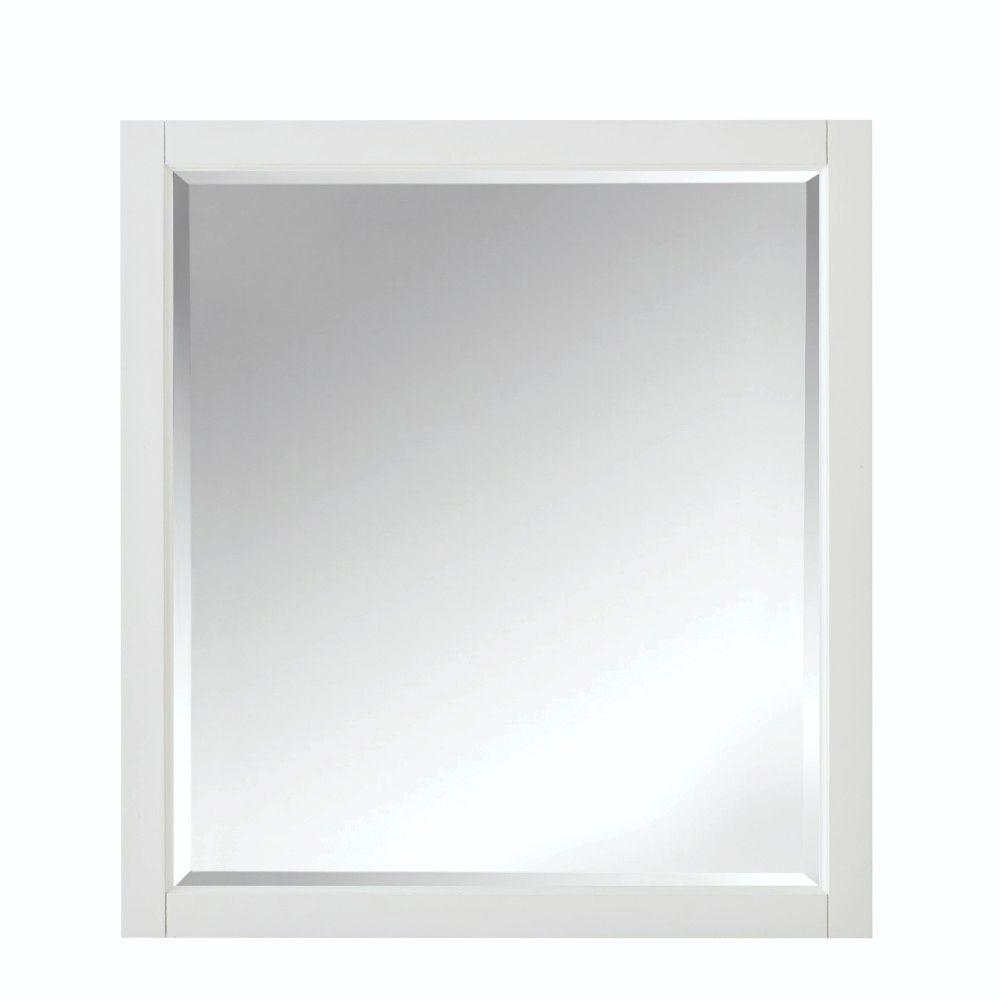 This Review Is From:Highclere 36 In. X 33 In. Wood Framed Single Wall Mirror  In White
