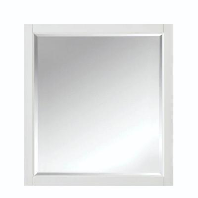 33 in. W x 36 in. H Framed Rectangular  Bathroom Vanity Mirror in white
