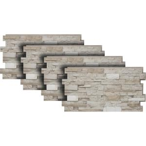 Urestone 24 In X 48 In Stacked Stone In Almond Taupe 4