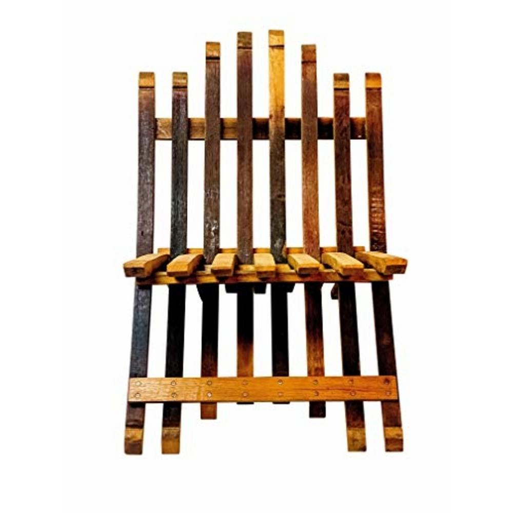 Swell Mgp Oak Folding Wood Wine Barrel Stave Outdoor Lounge Chair Andrewgaddart Wooden Chair Designs For Living Room Andrewgaddartcom