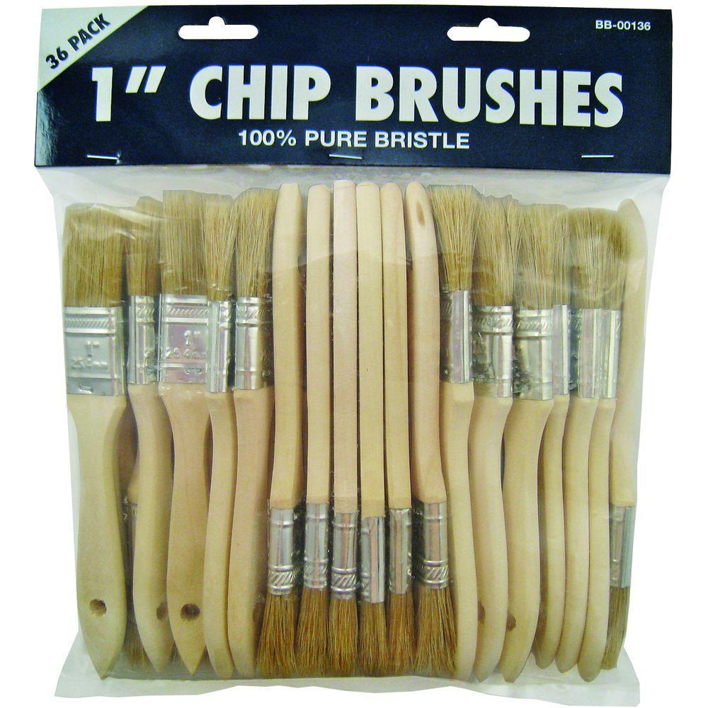 36-Piece 1 in. Chip Paint Brush Set