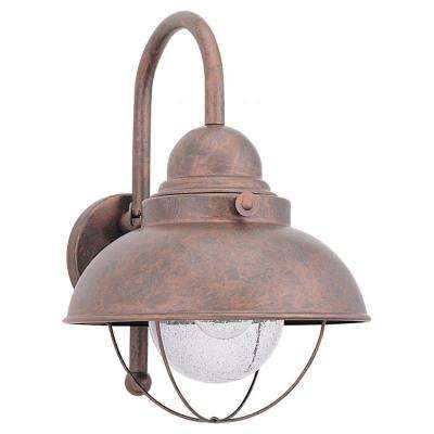 Sebring 1-Light Weathered Copper Outdoor Wall Lantern Sconce