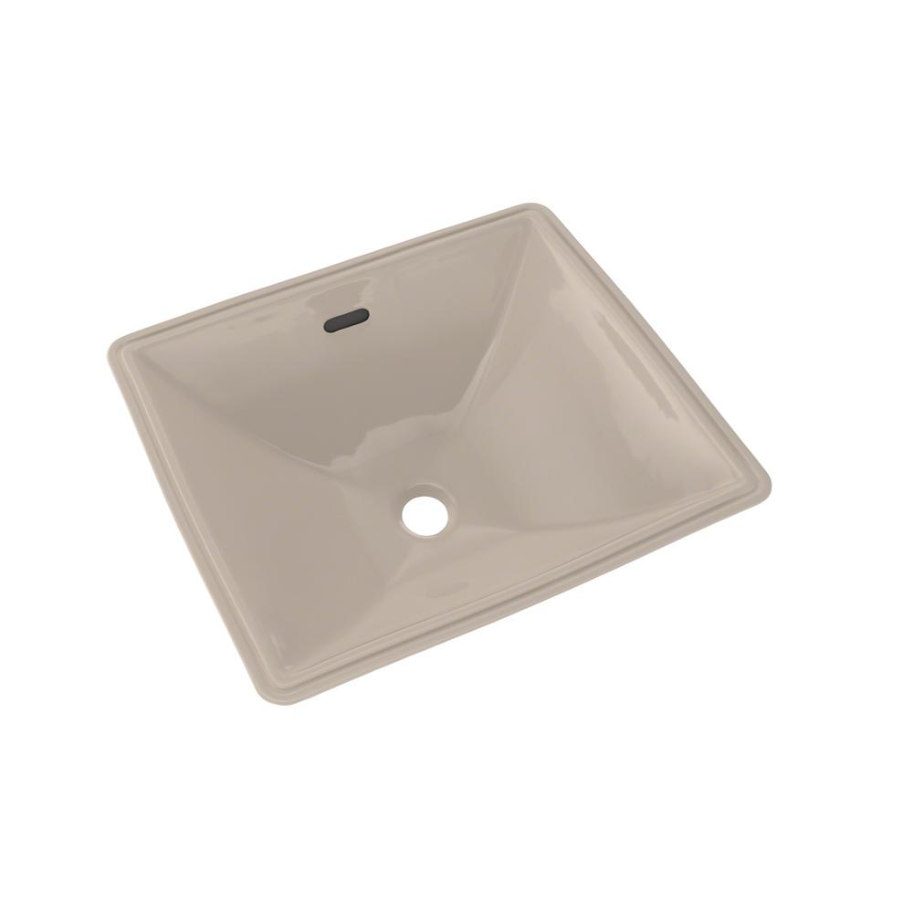 Toto Legato Undermount Bathroom Sink With Cefiontect In Bone Lt624g 03 The Home Depot