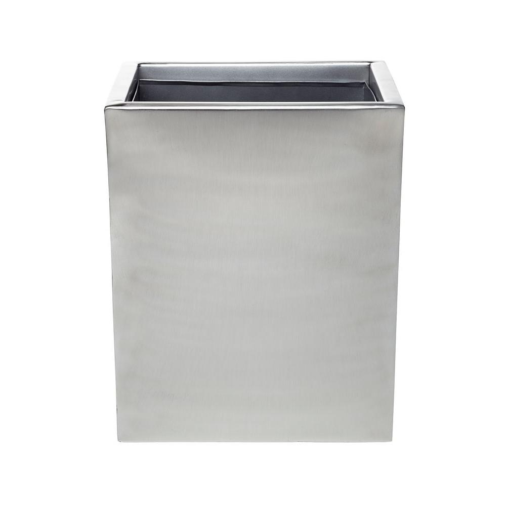 Modern Satin 10 in. Wastebasket in Stainless Steel