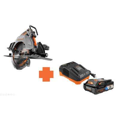 18-Volt OCTANE 7-1/4 in. Cordless Brushless Circular Saw with Bonus 18-Volt 3.0 Ah Lithium-Ion Battery and Charger