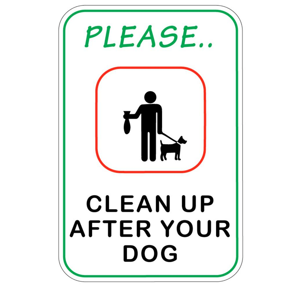Promodor 12 in. x 8 in. Clean After Your Dog Plastic Sign