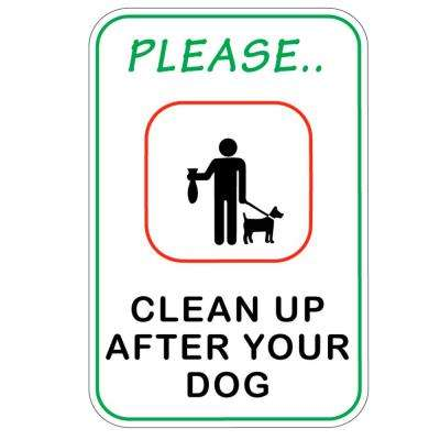 8 in. x 12 in. Plastic Clean After Your Dog Sign