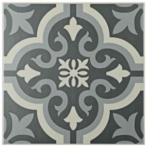 Merola Tile Braga Black 7 3 4 In X 7 3 4 In Ceramic