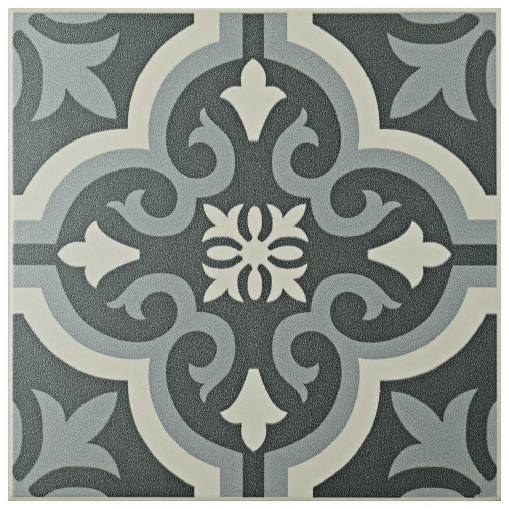 Merola Tile Braga Black 7 3 4 In X 7 3 4 In Ceramic