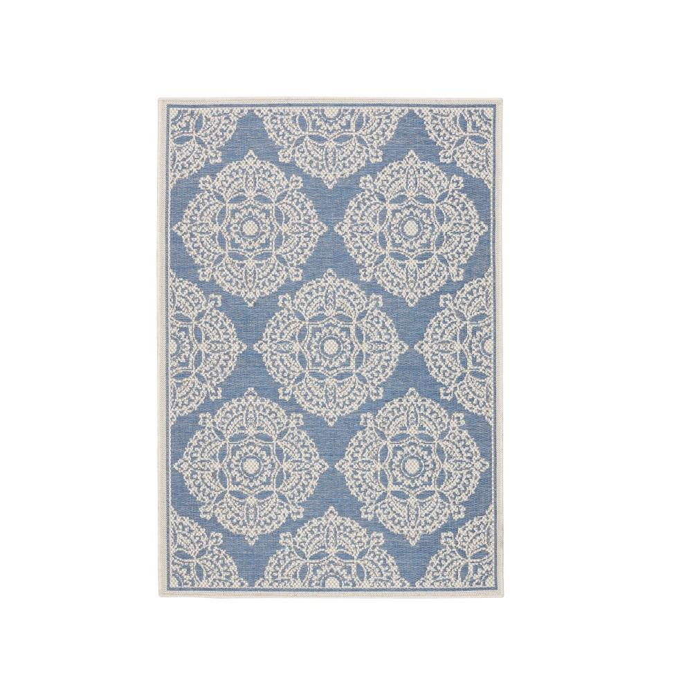 Home decorators collection cleo blue 2 ft x 3 ft 7 in for Home decorators rugs blue