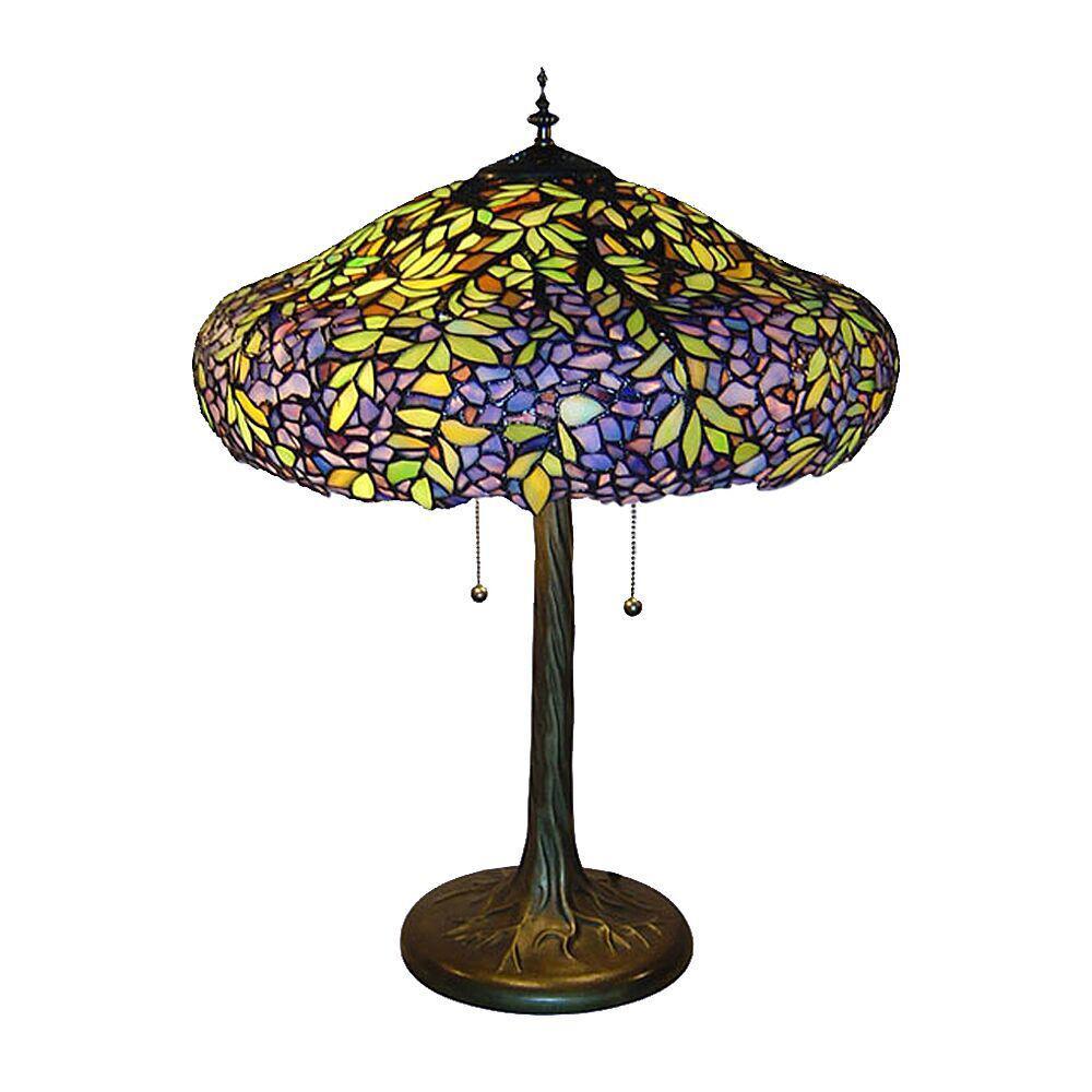 25 in. Tiffany Laburnum Bronze Table Lamp