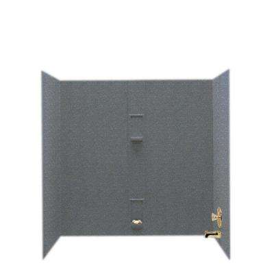 30 in. x 60 in. x 60 in. 5-Piece Easy Up Adhesive Alcove Tub Surround in Night Sky