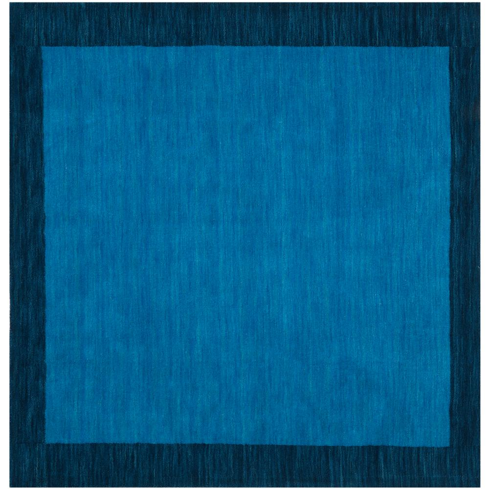 Safavieh Himalaya Turquoise 4 Ft X 4 Ft Round Area Rug: Safavieh Himalaya Light Blue/Dark Blue 4 Ft. X 4 Ft