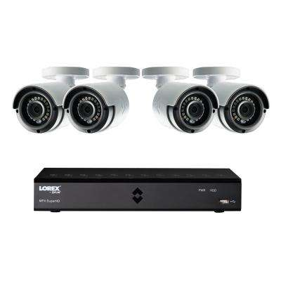 8-Channel 1080p High Definition 1TB HDD Surveillance DVR System with 41080p HD Indoor/Outdoor Wired Cameras and Remote