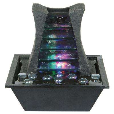 8.25 in. Dark Stone Fountain with LED Light