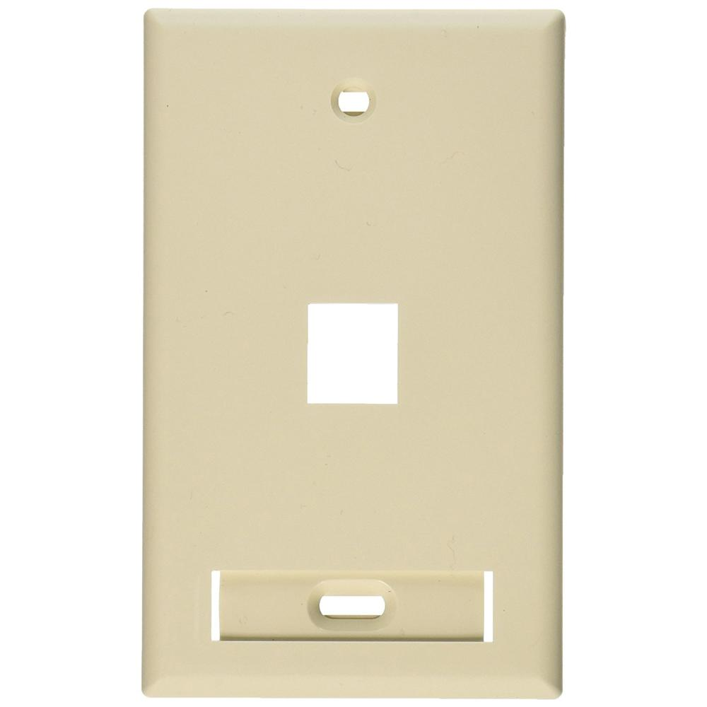 Lutron Claro 1 Gang White Single Decorator Wall Plate