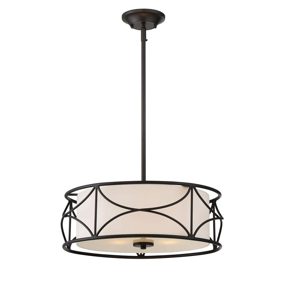 DesignersFountain Designers Fountain Avara 3-Light Oil Rubbed Bronze Interior Inverted Pendant