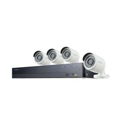 4-Channel 1080p 1TB DVR Surveillance System with 4-Wired Bullet Cameras