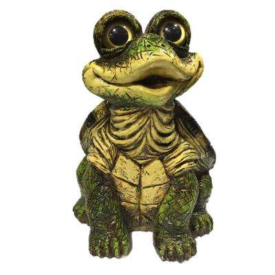9.25 in. H Large Sitting Whimsical Turtle Home and Garden Statue