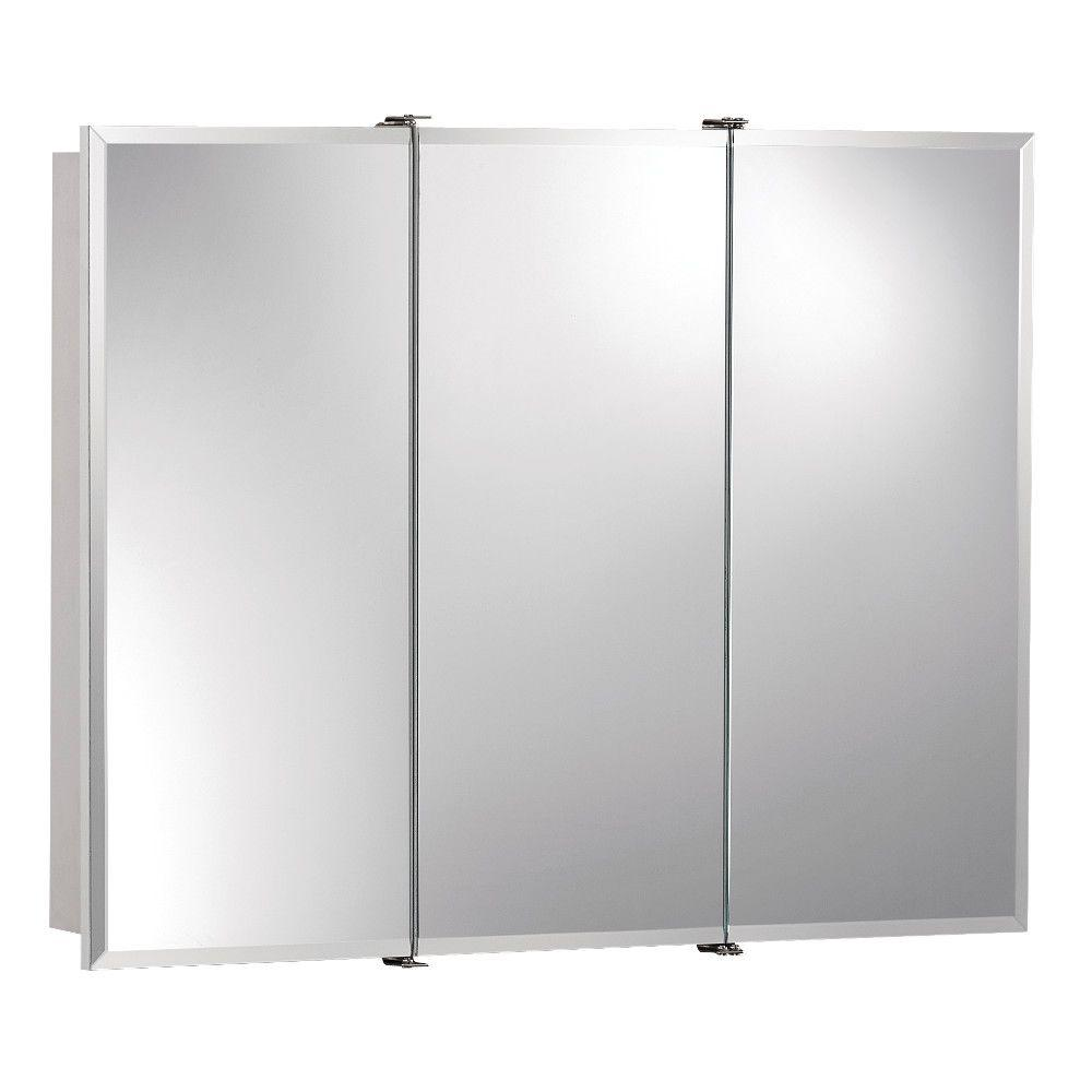 3 mirror bathroom cabinet ashland 30 in x 26 in x 4 3 4 in frameless 15286