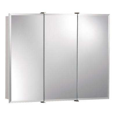 Ashland 30 in. x 26 in. x 4-3/4 in. Frameless Surface-Mount Bathroom Medicine Cabinet with Beveled Mirror