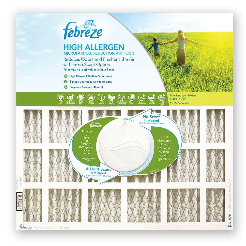 null 20 in. x 20 in. x 1 in. High Allergen Microparticle/Odor Reduction Air Filter (4-Pack)-DISCONTINUED