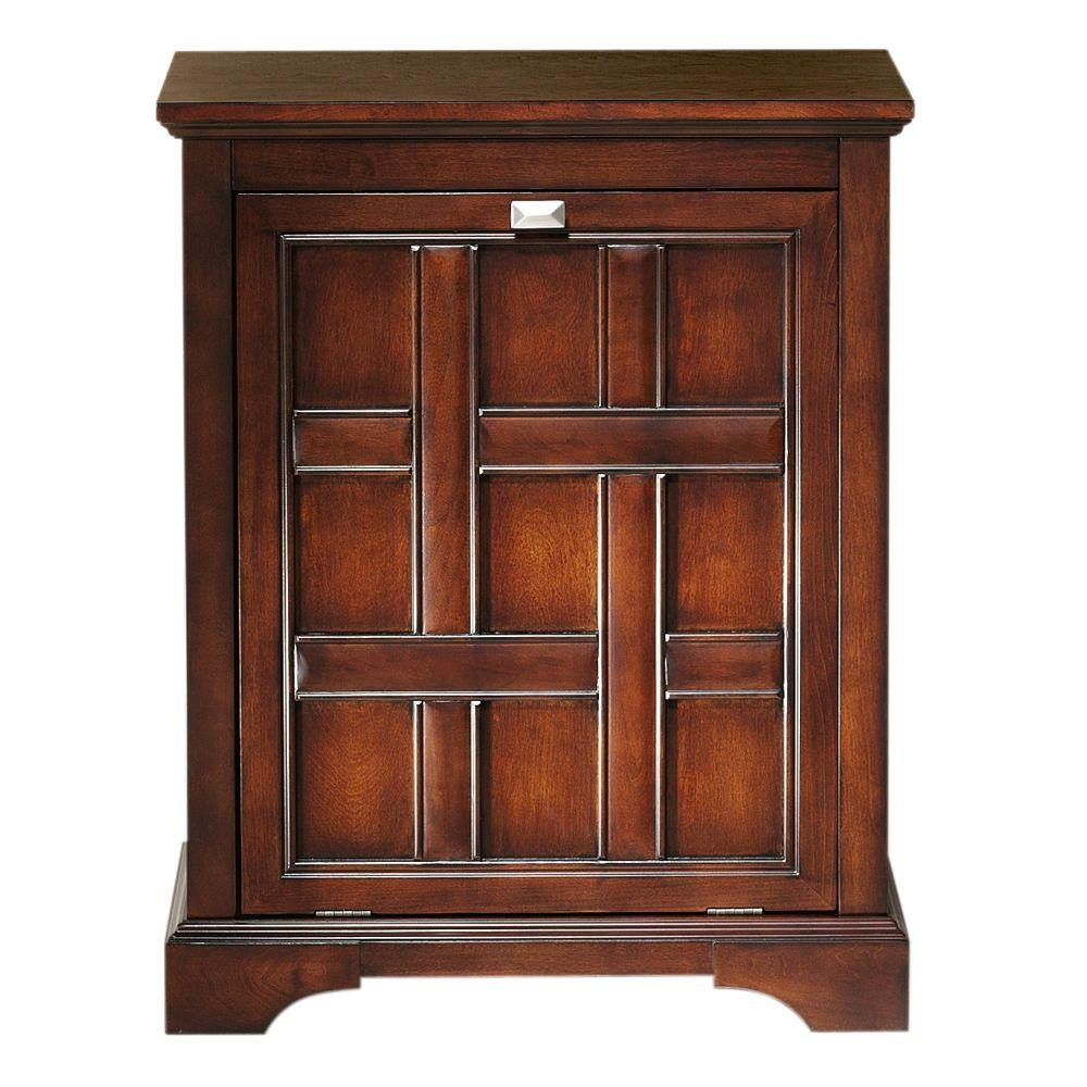 Home Decorators Collection Fairhaven 30.25 in. H x 24 in. W Single Tilt-Out Hamper in Dark Walnut