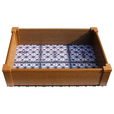 24 in. x 36 in. Peruvian Teak Composite Lumber Patio Raised Garden Bed Kit