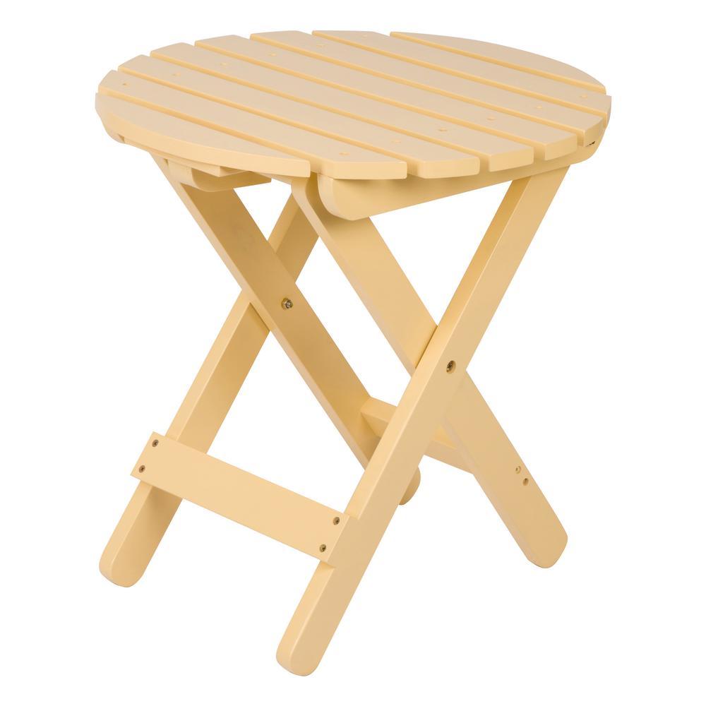 Adirondack Bee's Wax Round Wood Folding Table
