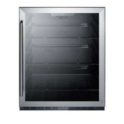 24 in. W 5 cu. ft. Merchandiser Glass Door Refrigerator in Black