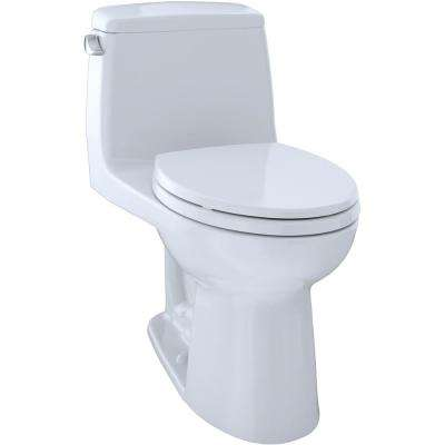 Eco UltraMax ADA Compliant 1-Piece 1.28 GPF Single Flush Elongated Toilet in Cotton White, Seat Included