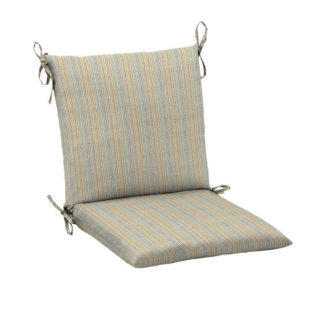 Hampton Bay 20 X 17 Outdoor Chair Cushion In Standard Ticking Stripe