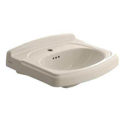 Portsmouth 19.5 in. Pedestal Sink Basin with Center Hole Only in Linen