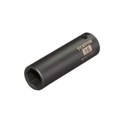 1/2 in. Drive 16 mm 6-Point Deep Impact Socket