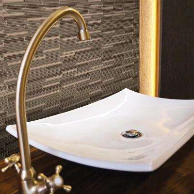 Loft Maronne Approximately 3 in. W x 3 in. H Bronze, Silver and Copper Decorative Mosaic Wall Tile Backsplash Sample