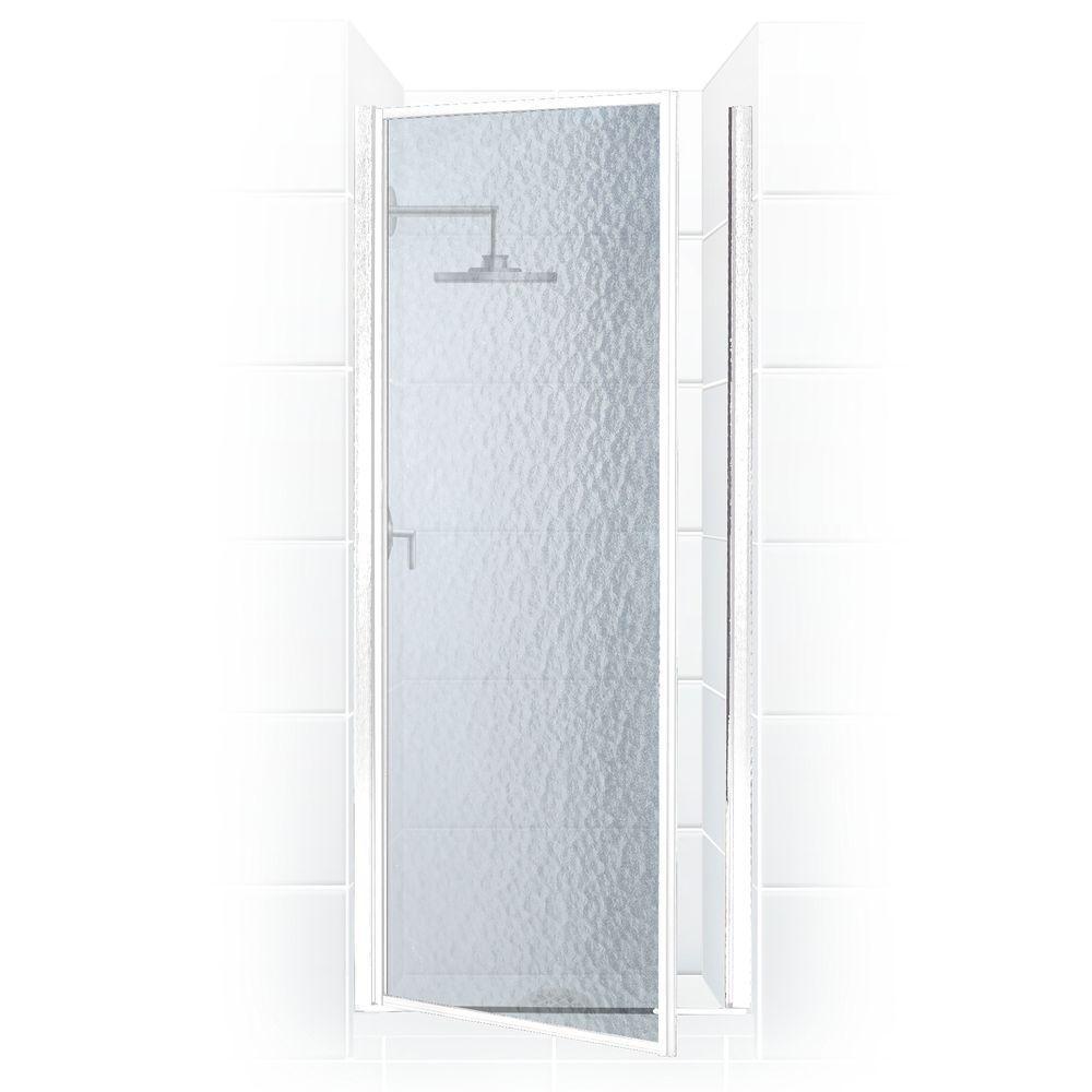 Legend Series 27 in. x 64 in. Framed Hinged Shower Door