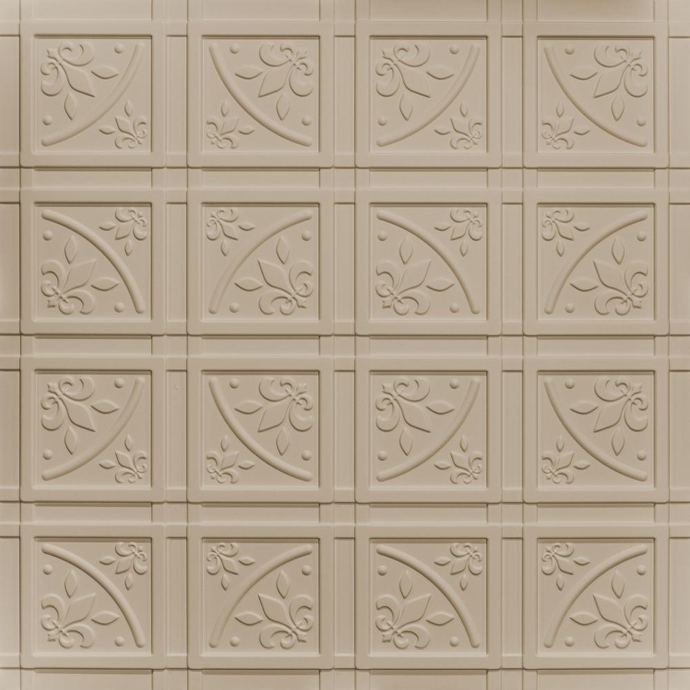 Lafayette Latte 2 ft. x 2 ft. Glue-up Ceiling Tile and Backsplash Kit