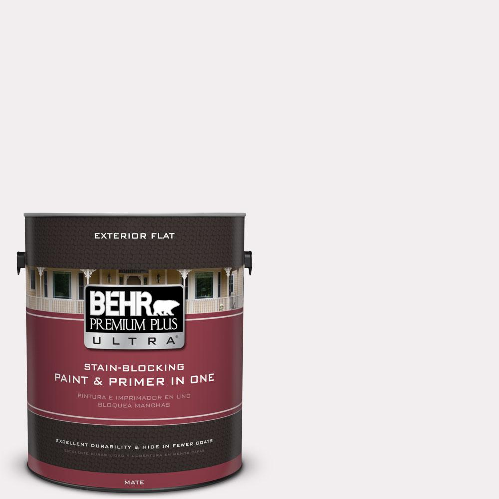 BEHR Premium Plus Ultra 1 gal. #PPL-12 Rose Dawn Flat Exterior Paint