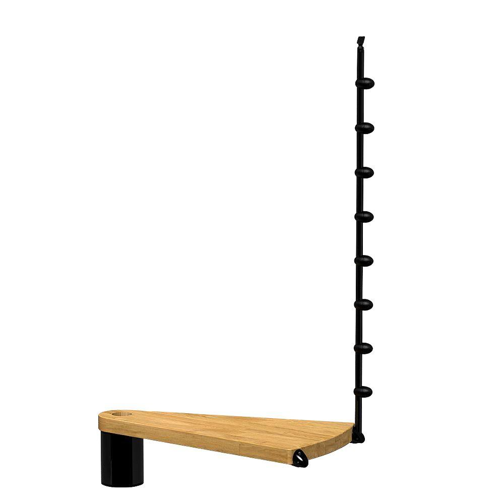 Oak70.Xtra 63 in. Black Add Riser
