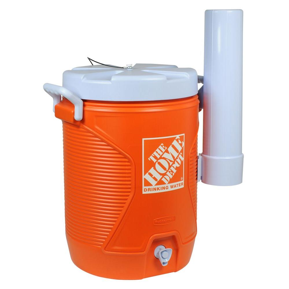the home depot 5 gal orange water cooler