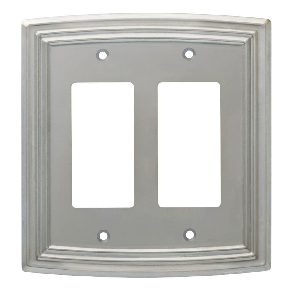 Nickel 2-Gang Decorator/Rocker Wall Plate (1-Pack)