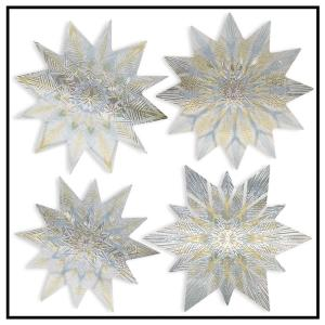 Artscape 12 inch x 12 inch Nordic Star Holiday Decorative Window Accents Film (4-Piece) by Artscape