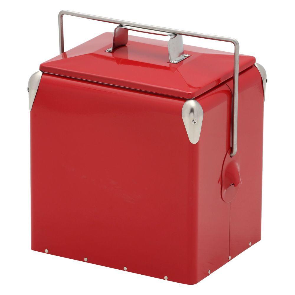 AmeriHome 12 qt. Old Fashioned Metal Picnic Cooler