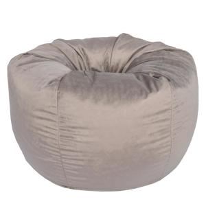 Arabella Oyster Velvet Bean Bag