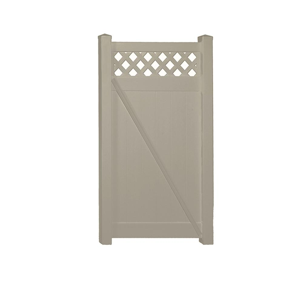 Ashton 3.7 ft. W x 6 ft. H Khaki Vinyl Privacy