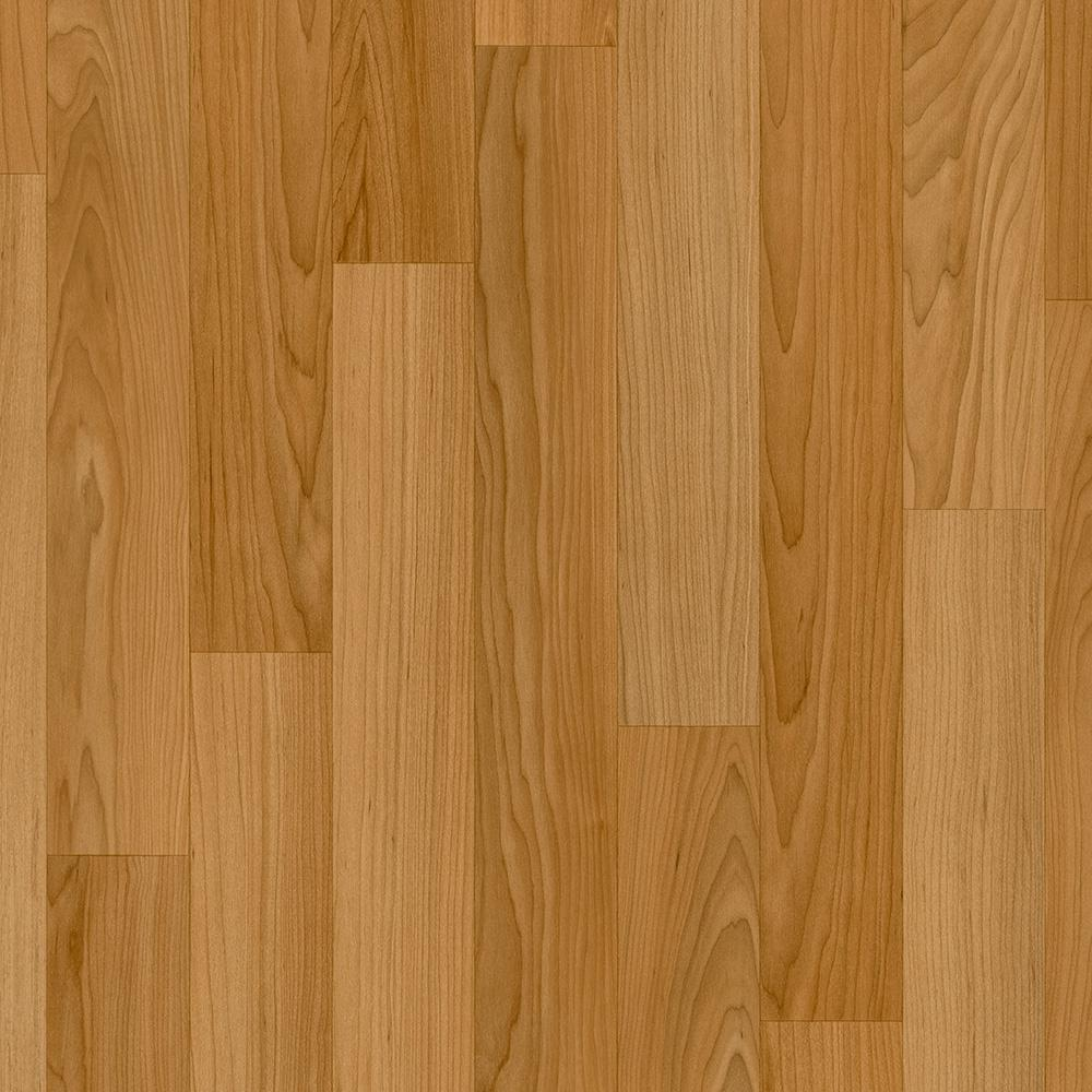 Trafficmaster oak strip butterscotch 12 ft wide x your for Pvc wood flooring