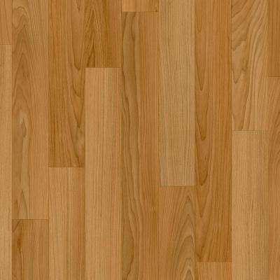Oak Strip Butterscotch 12 ft. Wide Residential Vinyl Sheet