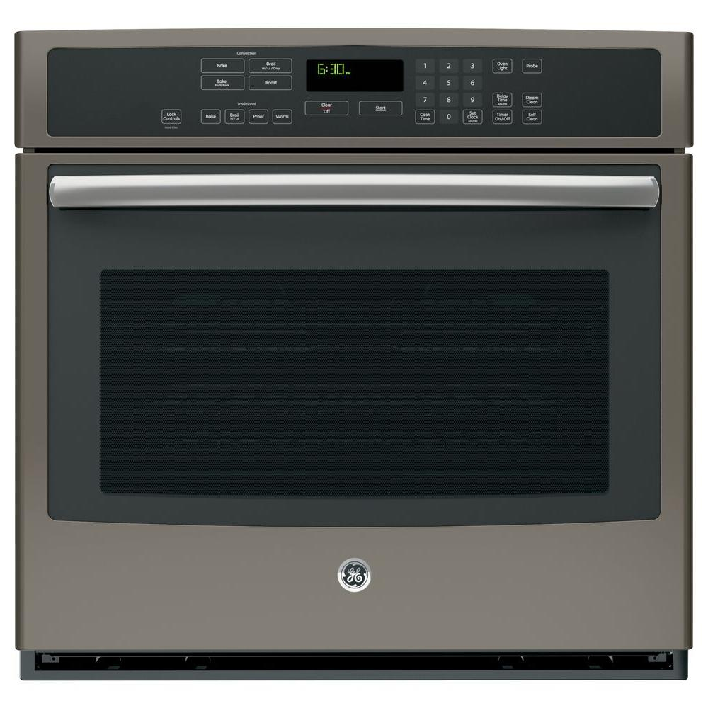 Ge Profile 30 In Single Electric Wall Oven With Convection Self Cleaning Stainless Steel Pt7050sfss The Home Depot